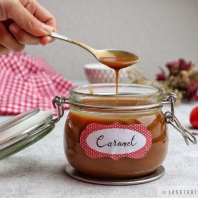 caramel, sauce, homemade, salted, flowers, spoon, jar