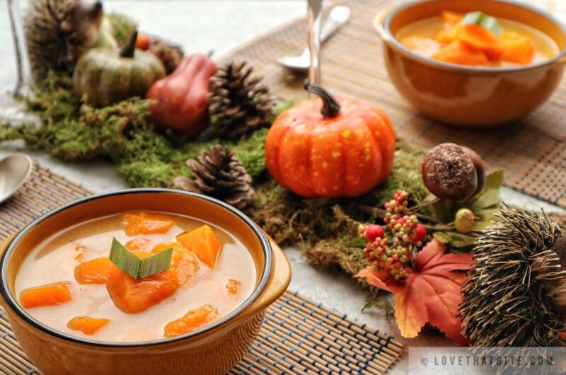 Indonesian sweet pumpkin soup – Pumpkin kolak