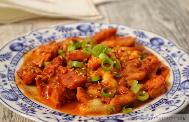 Korean cheese fire chicken – Cheese Buldak