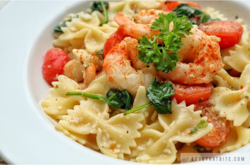 Farfalle with Shrimps