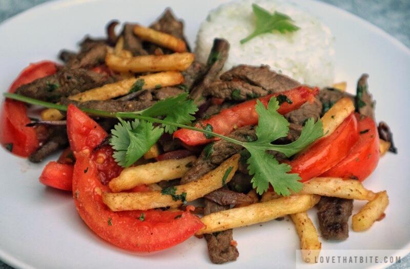 Peruvian Stir Fry Lomo Saltado Lovethatbite Com