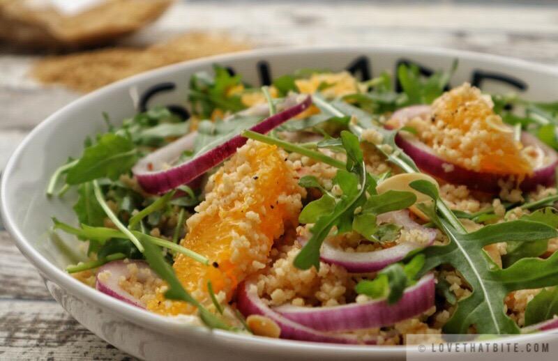 Couscous with Arugula Salad and Orange