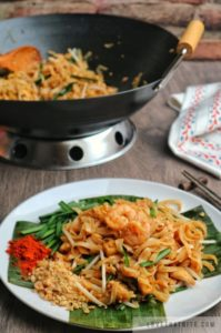 pad thai, recipe, thailand, food, authentic, street, simple, traditional, recipe, chili powder, garlic chives, wok, wooden spoon, chop sticks, napkin