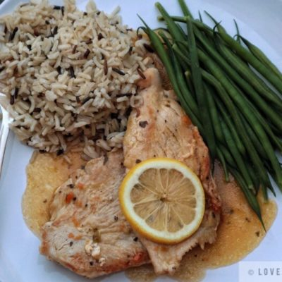 turkey, cutlets, breasts, chicken sauce, gravy, recipe, green beans, wild rice, tasty, simple, fork