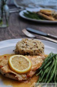 turkey, cutlets, with, lemon, sauce, gravy, lovethatbite, recipe, easy, simple, fork, knife, dinner, idea