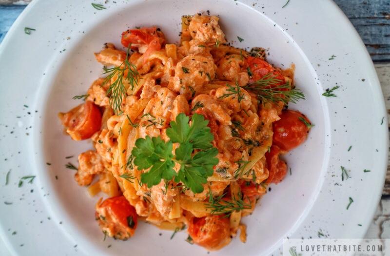 Creamy Tomato Salmon Pasta
