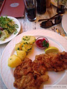 wiener, Schnitzel, Kalb, Austrian, food, culinary, dish, restaurant, downtown