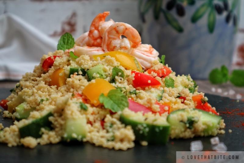 Couscous Shrimp Salad