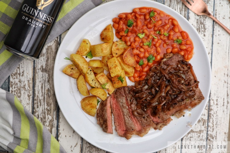 Steak with Guinness Sauce