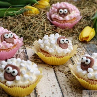 sheep cupcakes, muffins, easy, baking, recipe, easter, spring, treats, funny, adorable