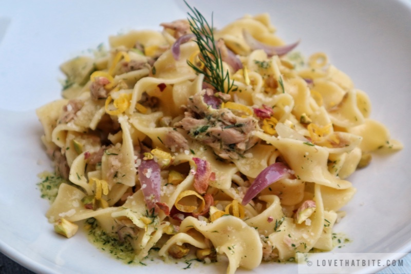 Tuna Pasta with Dill Pesto